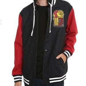 Hot Topic Harry Potter Gryffindor Varsity Jacket